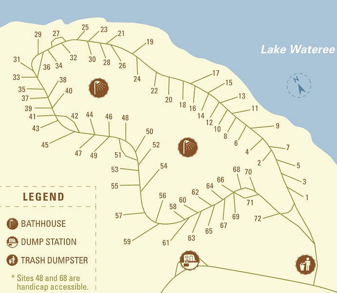 Lake Wateree State Park (Campground Map)