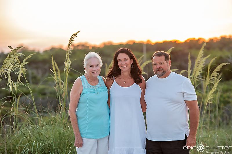 Family Portraits, Sunset, OBX Family Vacation, Buxton, North Carolina, Old Lighthouse Beach, Cape Hatteras Lighthouse, Cape Hatteras Photographers, Outer Banks Photographers, OBX Photographers, Epic Shutter Photography, Lighthouse Family Portraits