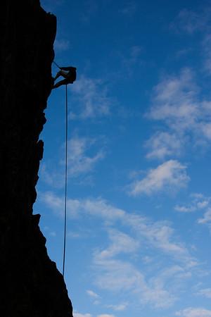 Climbing the Butte