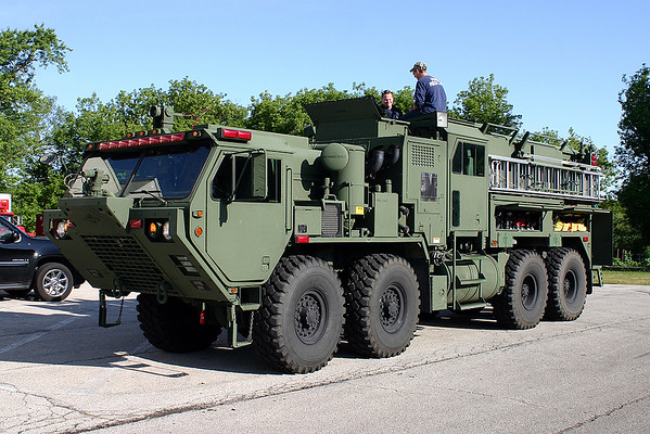Army ARFF truck at Newport