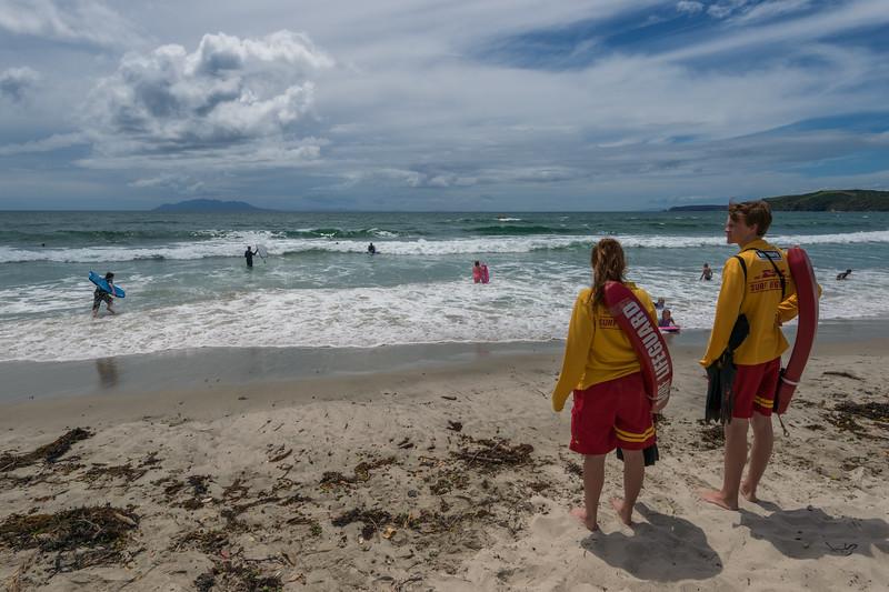 Lifeguards, Omaha Beach, Boxing Day, 2014