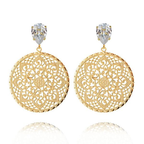 Alexandra Earrings / Crystal Gold