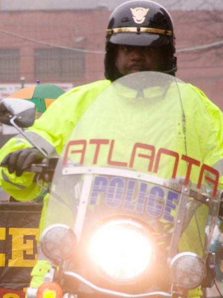 One of several escorts provided by City of Atlanta. sh