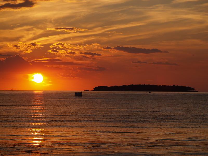 June sunset overlooking Rattlesnake Island, Lake Erie