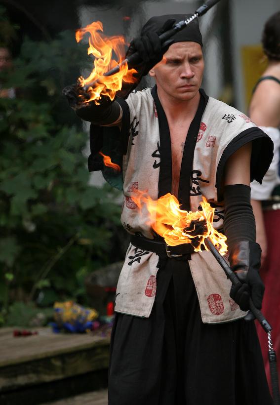 Fire juggler, Kansas City Renaissance Festival