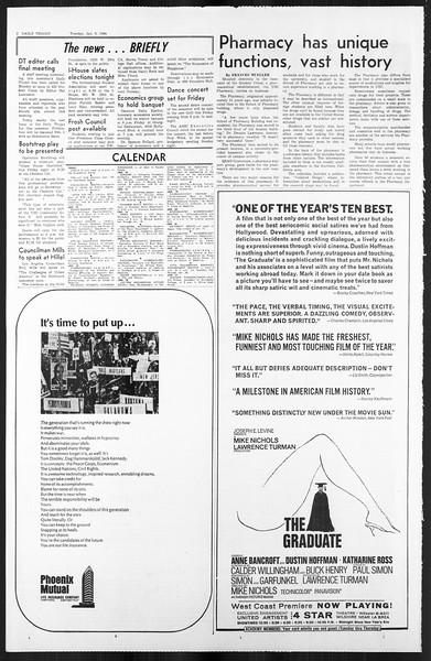 Daily Trojan, Vol. 59, No. 62, January 09, 1968