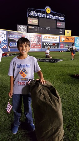 20160827 - Scout Night at the Spokane Indians