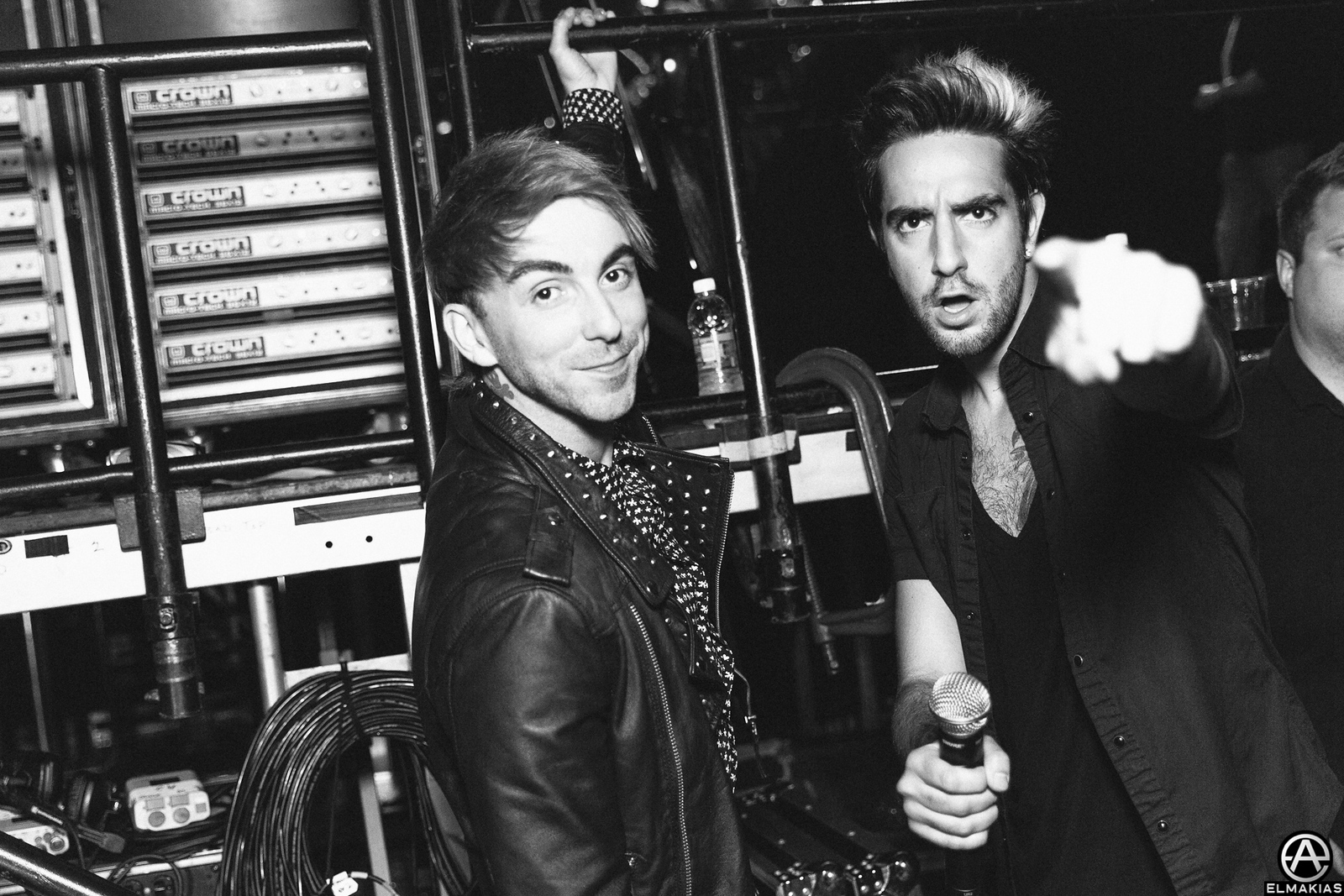 Alex Gaskarth and Jack Barakat of All Time Low at the Alternative Press Music Awards 2015 by Adam Elmakias