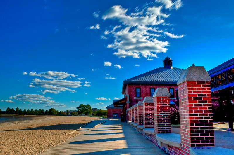Carson Beach in South Boston mid-afternoon in September.