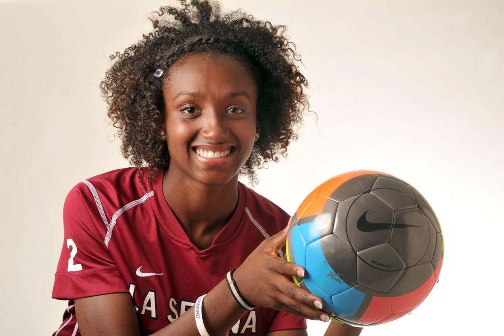 . Moriah Earley from La Serna High School was selected as the Whittier Daily News All-Area Girls Soccer Player of the Year on Wednesday March 27, 2013. (SGVN/Staff Photo by Keith Durflinger)