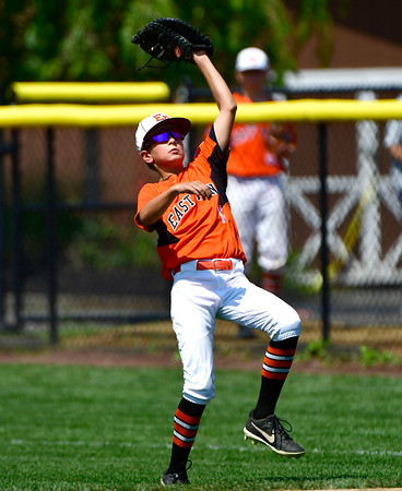 8/4/2019 Mike Orazzi | Staff East Pennsboro Little League's Steel Bayer (12) during their opening round game of the Little League Mid-Atlantic regional Baseball Tournament in Bristol.