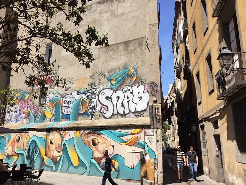 Street Art in Barcelona Spain