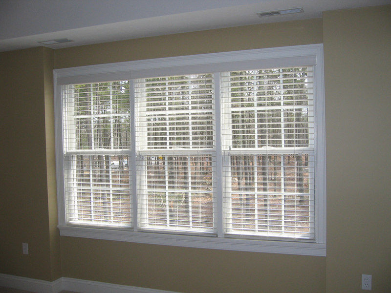 "2"" WoodMate blinds, open"