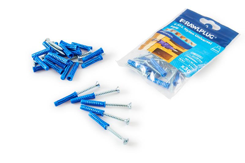 Gelmar Rawl Plug 4 All Nylon Universal Plug Medium