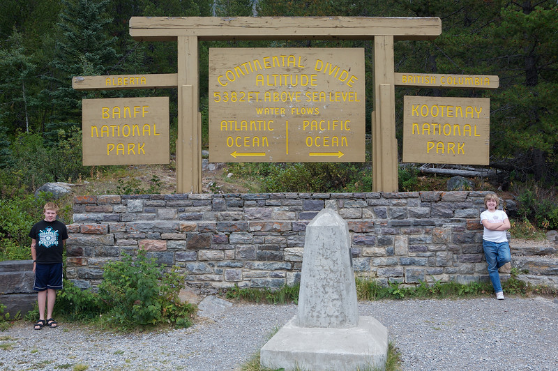 On the Continental Divide, which is the border between British Columbia and Alberta.