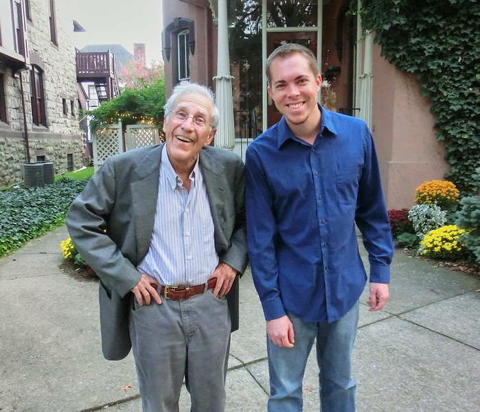 Larry Lebin & Nick at the Herdic House in Williamsport PA. Oct 5 2012