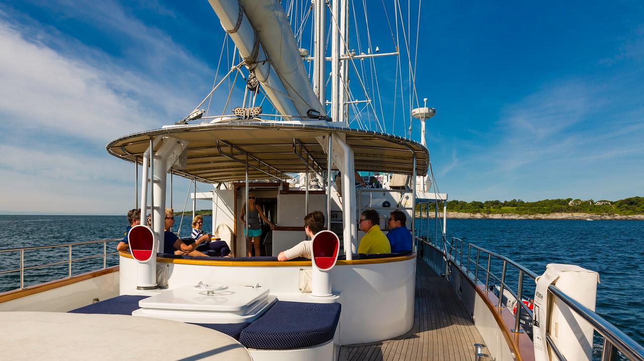Yacht Arabella Aft Veranda