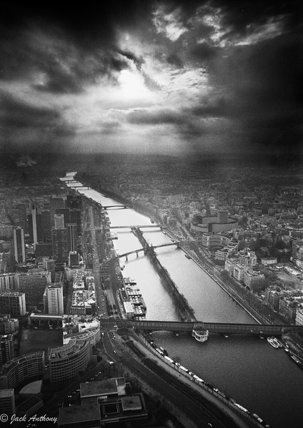 Eiffel Tower view of the Seine River, Paris