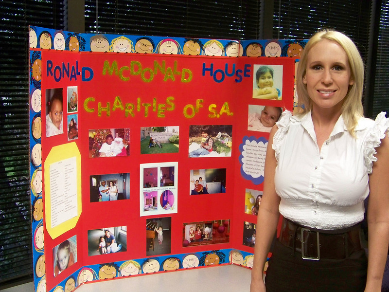 Ms Bivin, Volunteer Coordinator for the Ronald McDonald House, 227 Lewis Street, San Antonio, Texas 78212