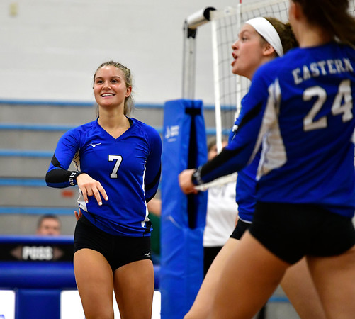 10/2/2019 Mike Orazzi | Staff Bristol Eastern's Zoe Lowe (7) during a win over Maloney on Wednesday.
