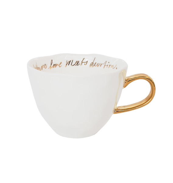 UNC Good Morning Cup - White with gold text inside
