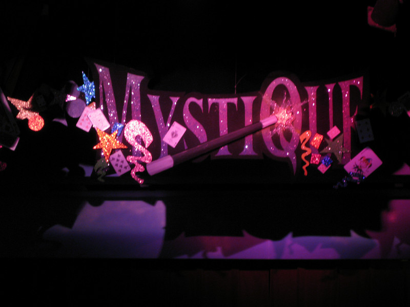 Inside the Mystique theater.