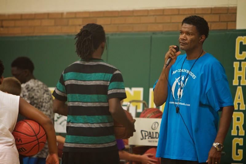 Camp Coach Keith Rhodes; Basketball Camp Summer 2015.
