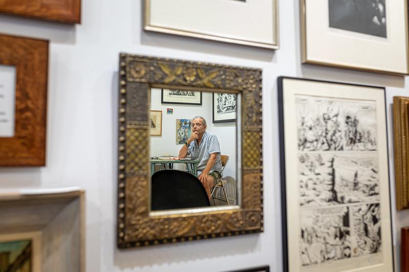 Antiques dealer Stephen Thomas for Image Magazine