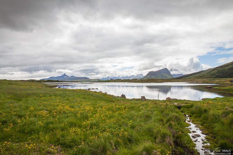 Stream, Lake, Mountain