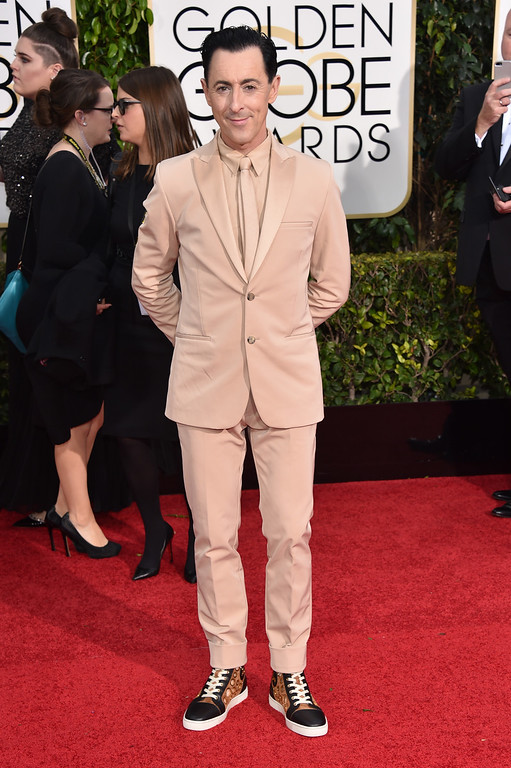 . Alan Cumming arrives at the 72nd annual Golden Globe Awards at the Beverly Hilton Hotel on Sunday, Jan. 11, 2015, in Beverly Hills, Calif. (Photo by John Shearer/Invision/AP)
