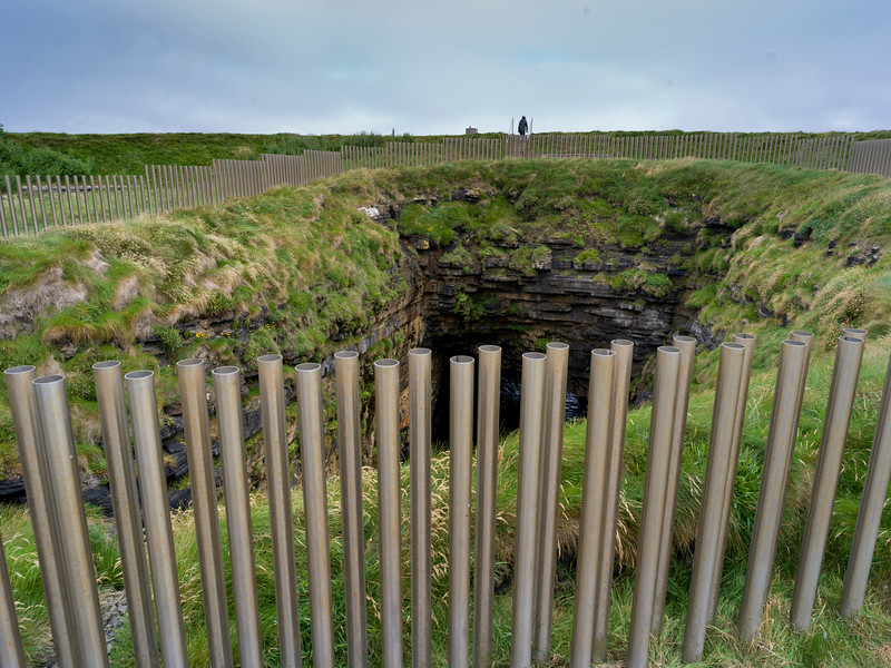 Fence made by pipes, Downpatrick Head, Killala, County Mayo, Ireland