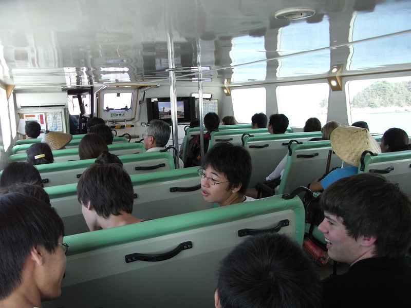 On the boat back to Hiroshima