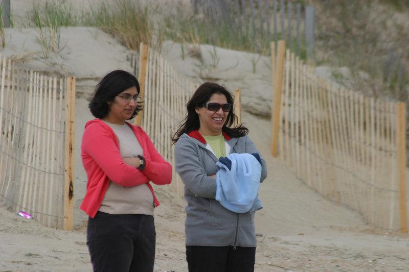 Aamara and Saadia watching the crazy kids.