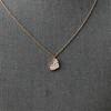 .65ctw Rose Gold Askew Heart Mosaic Pendant 16
