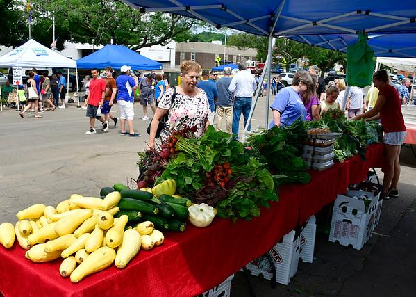 6/29/2019 Mike Orazzi | Staff The Bristol Farmer's Market in downtown on Saturday.