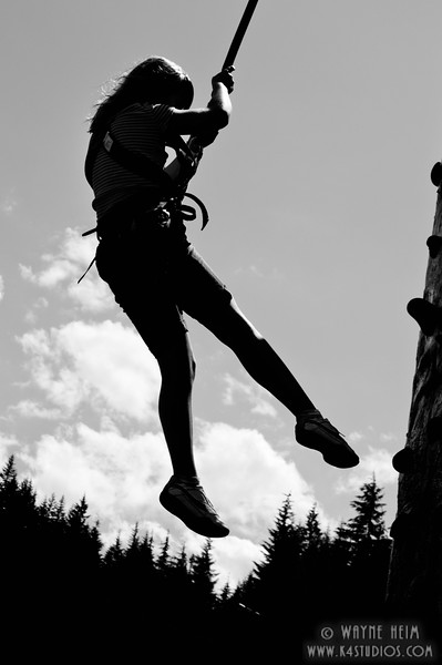 Repelling -  Photography by Wayne Heim