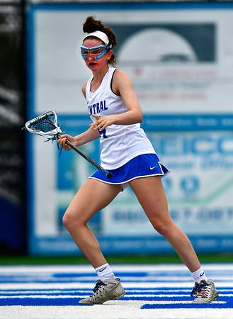 4/20/2019 Mike Orazzi | Staff CCSU Women's Lacrosse's Jessica Denike (4)against Wagner in New Britain on Saturday.