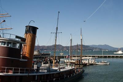 One Snowbird heading towards the Golden Gate Bridge.