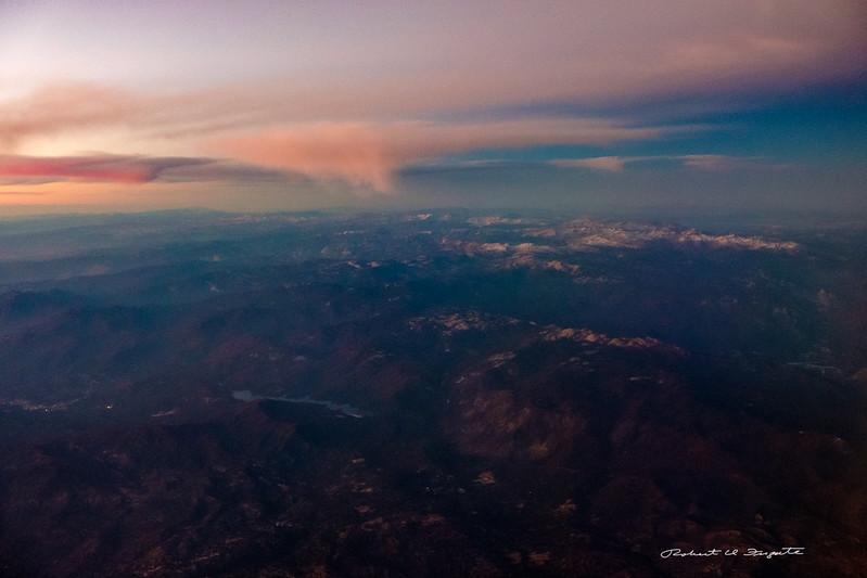 High Sierra in twilight