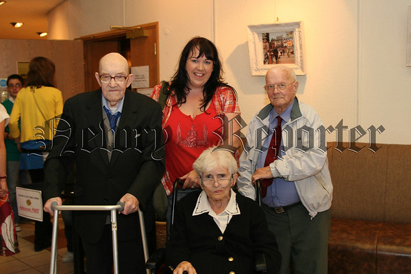 People from Rockfield Nursing Home who attended the Concert, Pat O'Neill, Caroline Anderson (activities officer), Charlie Mc Greevy and Sarah Savage, 07W36N52