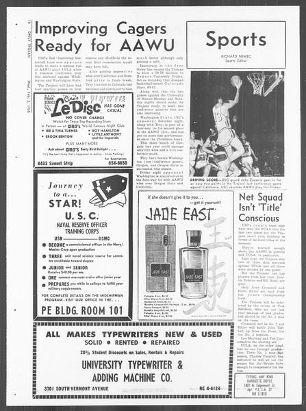 Daily Trojan, Vol. 56, No. 58, February 03, 1965