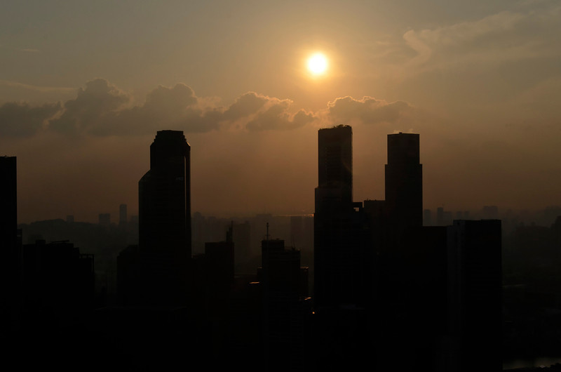 Sunset, Financial District, Singapore