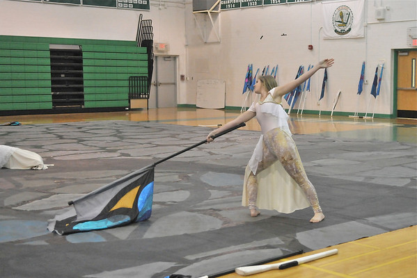 2011-03-31: Varsity Winter Guard Exhibition