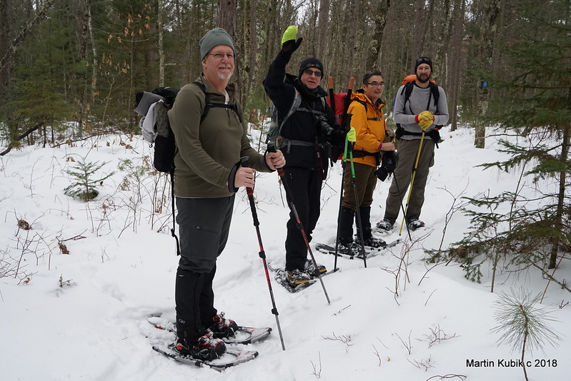 We enjoyed the mild temps, lots of deer and wolf tracks on the trail
