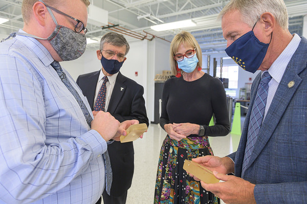 LT. GOVERNOR SUZANNE CROUCH VISITS BOCK CENTER FOR INNOVATION & BIOMECHANICAL ENGINEERING