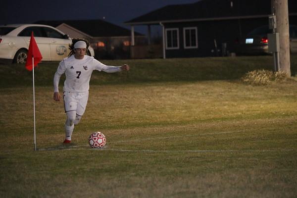 Western Christian boys' soccer 4-18-19 at Spirit Lake