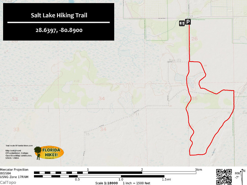 Salt Lake Hiking Trail Map