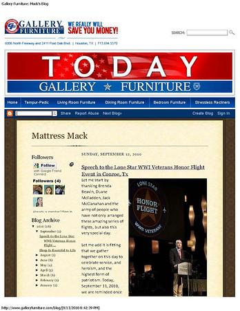 Gallery Furniture Blog September 2010