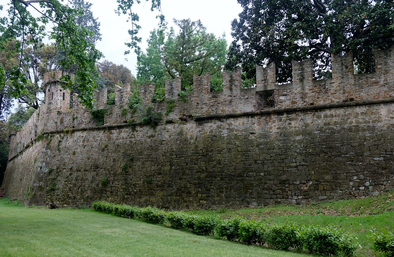 Wall surrounding the gardens built in 562 AD