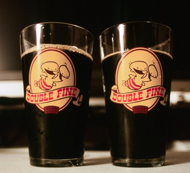 A Double Fine Beer